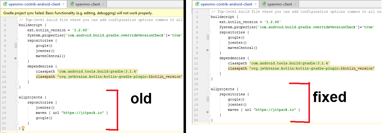 AC-481] Android Studio fails to resolve dependencies and